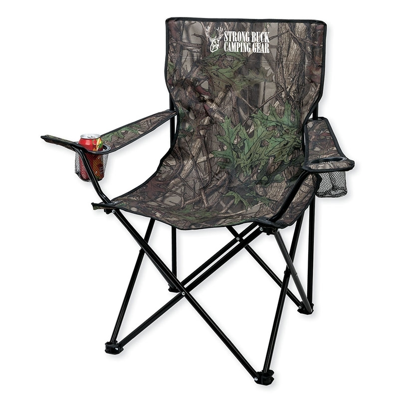 Customized Essentials GR5401 Camo Folding Chair with Carrying Bag