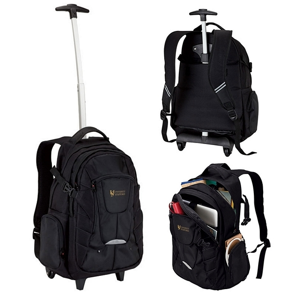 Customized Sovrano KB4502 Rolling Backpack | Promotional Sovrano ...