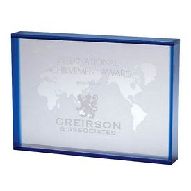 Customized Crystal World Map Award