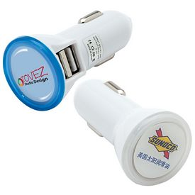 Promotional Giftcor Gc1320 Dual Usb Car Charger