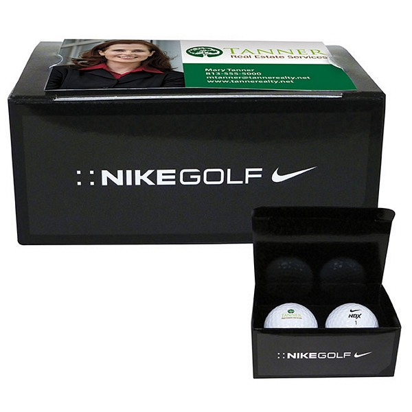 Promotional nike 2 ball business card box customized for Nike business card