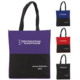 Promotional Multi Pocket Non-Woven Conference Tote Bag