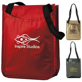 Promotional Metallic Non-Woven Gift Tote Bag