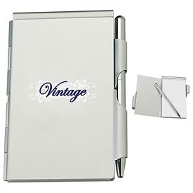 Promotional Aluminum Jotter Pad with Pen