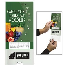 Promotional Medical Pocket Slider: Calculating Carbs, Fat and Calories