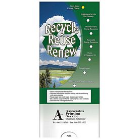 Promotional Medical Pocket Slider: Recycle, Reuse, Renew