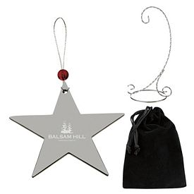 Promotional Silver Star Ornament