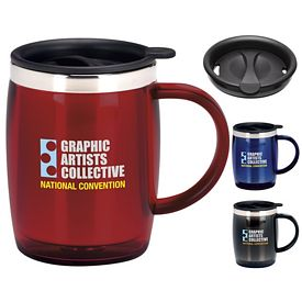 Promotional 16 oz. Desk Jockey Travel Mug