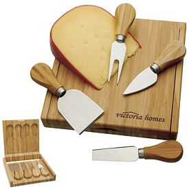 Promotional Bamboo Cheese Set