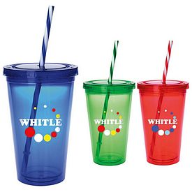 Promotional 18 oz. Colored Candy Cane Tumbler