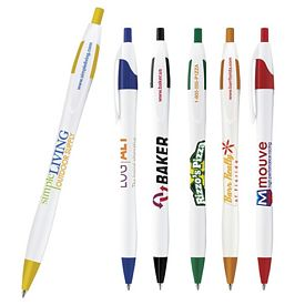 Promotional White Dart Retractable Pen
