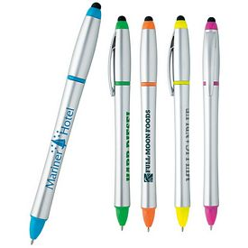 Promotional Stylus Highlighter-Pen Combo