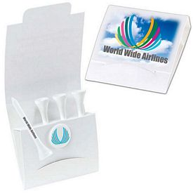 Promotional 4-1 Golf Tee Packet 3-1/4 Tee