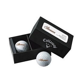 Promotional Callaway 2-Ball Business Card Box Super Soft