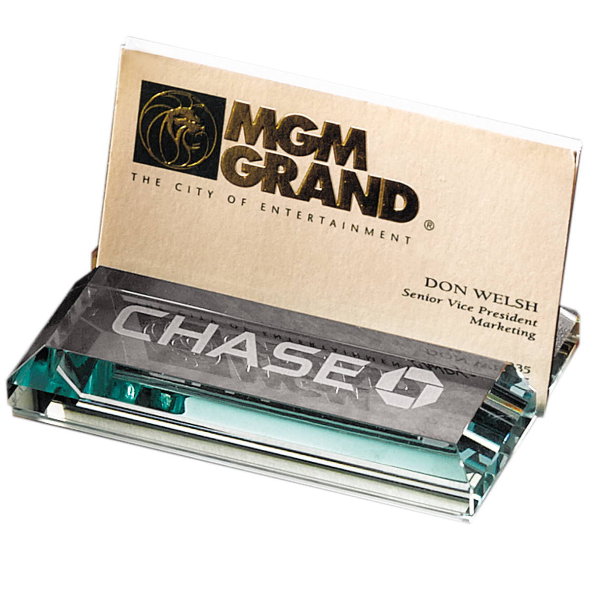 Customized Leeman Atrium Glass Business Card Holder   Promotional ...