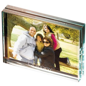 Promotional Leeman Atrium Glass Medium Desk Photo Frame