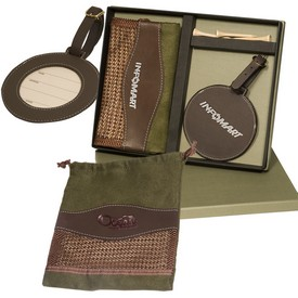 Custom Leeman Woodbury Golf Pouch Tag Set