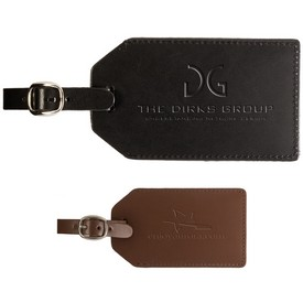 Promotional Leeman Grand Central Bonded Leather Luggage Tag