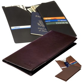 Promotional Leeman Liberty Travel Wallet Cowhide