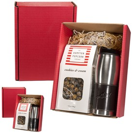Customized Leeman Empire Tumbler Gourmet Popcorn Gift Set