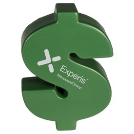 Promotional Dollar Shaped Sign Stress Reliever