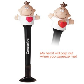Promotional Goofy Pop Heart Pen