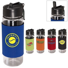 Promotional Voyager Tritan 22 Oz Bottle With Neoprene Sleeve