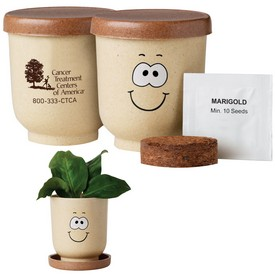 Promotional Goofy Grow Pot Eco-Planter With Marigold Seeds