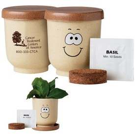 Customized Goofy Grow Pot Eco-Planter With Basil Seeds