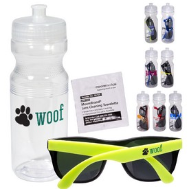 Promotional Sunglasses Lens Cleaning Wipe In 24 Oz Sports Bottle