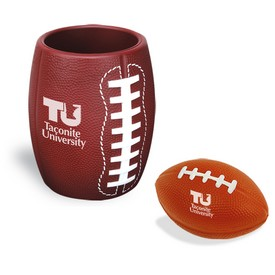 Customized Football Can Holder Stress Reliever Kit