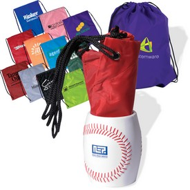 Promotional Baseball Can Holder Drawsting Backpack Kit