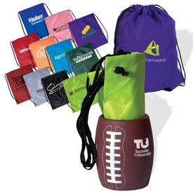 Promotional Football Can Holder Drawsting Backpack Kit