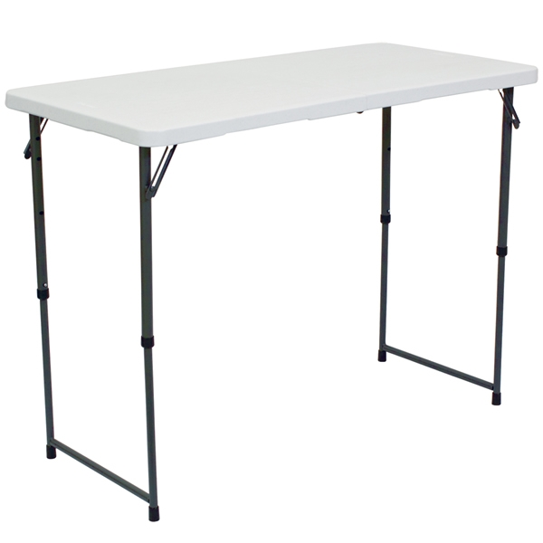 showgoer 4 ft demo table | foldable counter height tables | trade