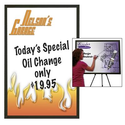 Customized Premium Brilliant Dry Erase Board 35-inch x 47-inch (Black Wood Frame)