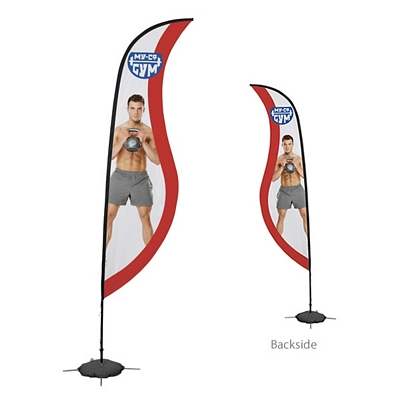 Promotional 13 Ft Sabre Sail Sign Kit Double-Sided w/Scissor Base