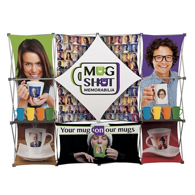 Promotional Deluxe Geometrix 12 Section Fabric Display Kit