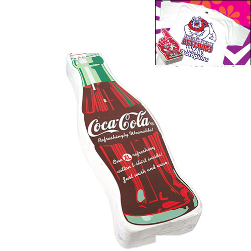 3ac65b1f5 Compressed T-Shirt: Coke Bottle | Compressed Advertising T-Shirts ...