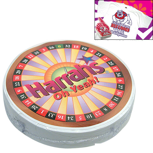 Promotional Compressed T-Shirt: Roulette Wheel
