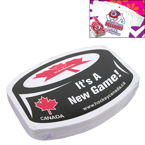 Promotional Compressed T-Shirt: Canadian Hockey Puck
