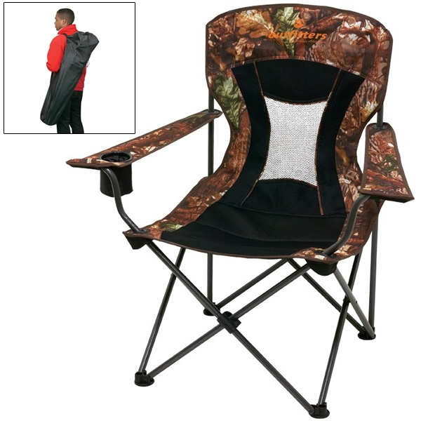 Camo Polyester Foldable Lawn Chair