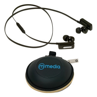 promotional oracle bluetooth ear buds customized oracle. Black Bedroom Furniture Sets. Home Design Ideas