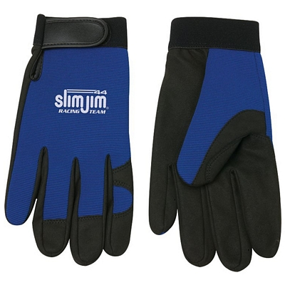 Promotional Blue Synthetic Leather Mechanics Glove