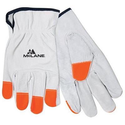 Promotional Hi-Vis Leather Orange Tip Driver's Gloves