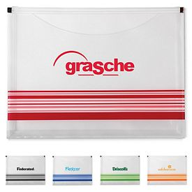 Promotional Striped Travel Pocket Portfolio