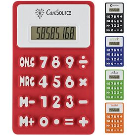 Promotional Flexible Press Me Colorful Calculator