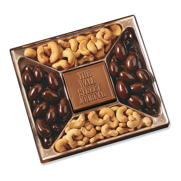 Chocolate gift box mold : Promotional small custom mold chocolate nuts delights