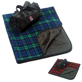 Promotional 50X60 Embroidered Plaid Foldable Picnic Blanket
