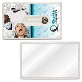 Promotional Credit Card Style Dental Floss With Mirror