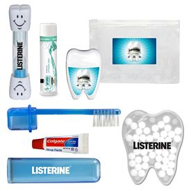 Promotional Happy Teeth Brush Floss Paste Dental Kit